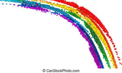 regenboog, diamant, kleurrijke, model