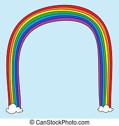 regenboog, doodle