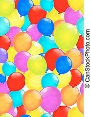 regenboog, eps10., vrijstaand, achtergrond., vector, witte , ballons
