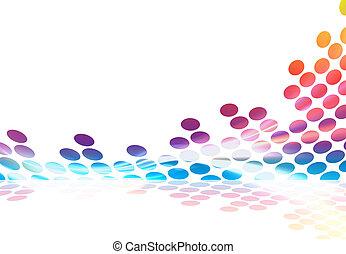 regenboog, grafische voorstellng equalizer