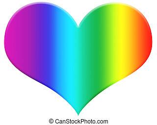 regenboog, hart