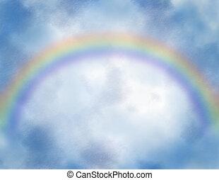 regenboog, hemel