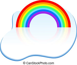regenboog, icon.