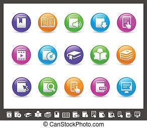 //, regenboog, iconen, boek, reeks