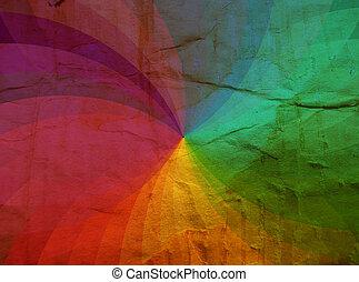 regenboog, karton, textuur, achtergrond