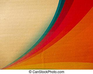 regenboog, karton, textuur