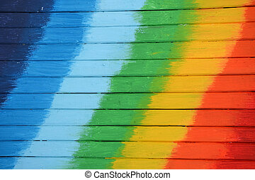 regenboog kleurde, houten, heldere kleuren, achtergrond