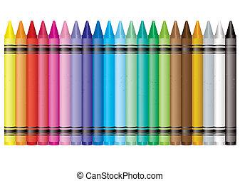 regenboog, kleurpotlood