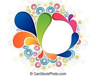 regenboog, kleurrijke, abstract, explode.eps, artistiek, floral