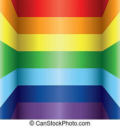 regenboog, kleurrijke, achtergrond