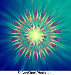 regenboog, kleurrijke, lichten, in cirkels