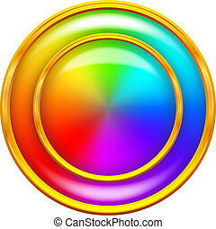 regenboog, knoop, cirkel