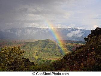 regenboog, op, kauai, cañon, waimea