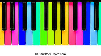 regenboog, piano toetsen