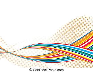 regenboog, rijden, stroom