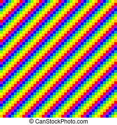 regenboog, seamless, achtergrond, pixel