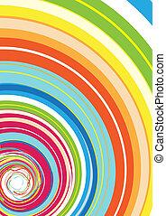 regenboog, spiraal, kleurrijke