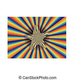 regenboog, starburst, achtergrond