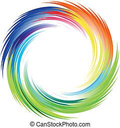 regenboog, straal, van, lichten, ontploffing, achtergrond