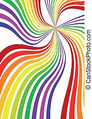 regenboog, vector, achtergrond