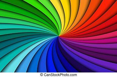 regenboog, vector, kleurrijke, eenvoudig, abstract, moderne, illustratie, achtergrond, kolken