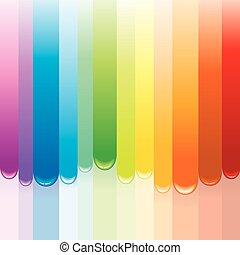 regenboog, verf