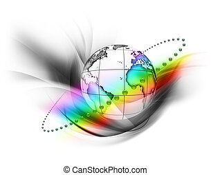 regenboog, wereld