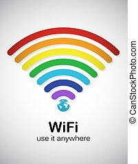 regenboog, wifi