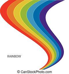 regenboog, witte achtergrond