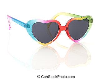 regenboog, zonnebrillen