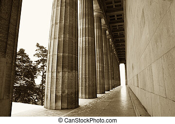 Regensburg07 - Pillars in Regensburg, Sepia