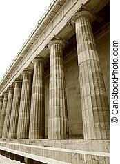 Regensburg10 - Pillars in Regensburg, sepia