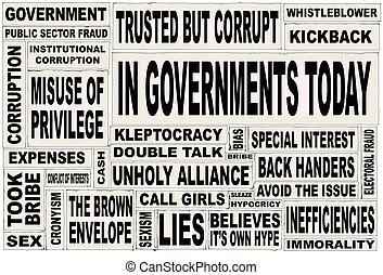 regering., avis, i dag, cuttings