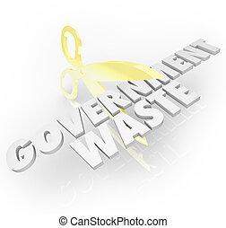 regering, verlagen, belastingen, kosten, holle weg, schaar, ...