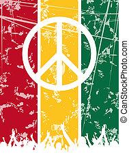 reggae, diseño, fiesta