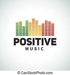 reggae, emblema, equalizzatore, positivo, doppiare, ...
