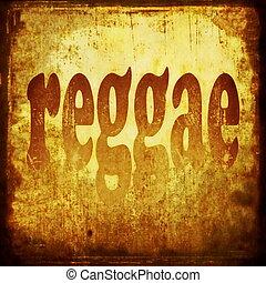 Reggae, mot, fond, musique
