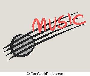 reggae, paz, amor, música, padrão