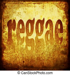 reggae, wort, hintergrund, musik