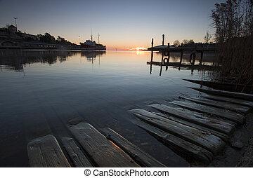 reggel, fény, alatt, a, harbour-1