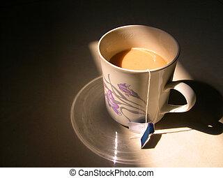 reggel, tea, 1