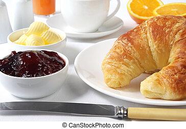 reggeli, kontinentális
