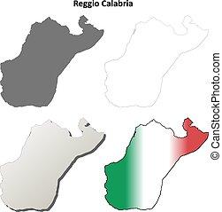 Reggio Calabria blank detailed outline map set - Reggio...