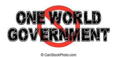 regierung, bann, welt, eins