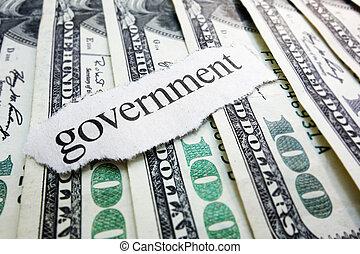 regierung, geld