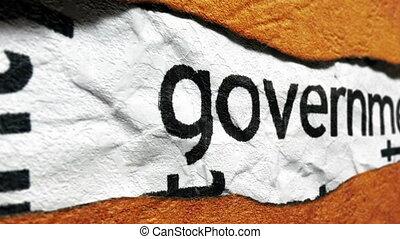 regierung, grunge, begriff