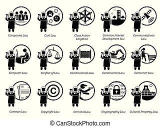 regierung, regeln, icons., regelungen, gesetze, art