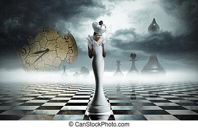 regina bianca, scacco matto