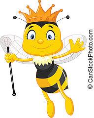 regina, cartone animato, ape