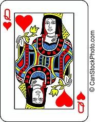 regina cuori, francese, version.eps